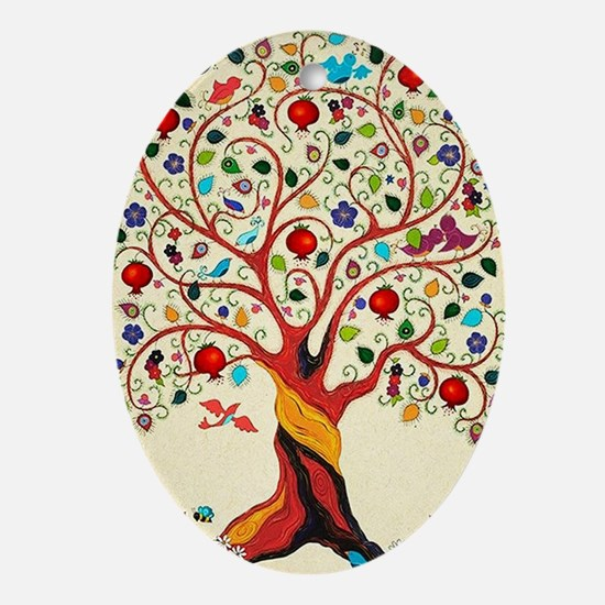 TREE OF LIFE 7 Oval Ornament