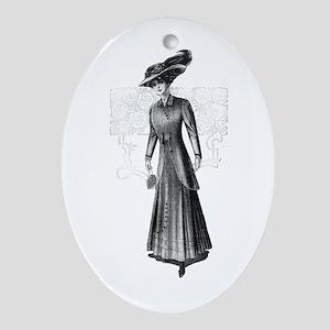 Gil Warzecha - Vintage Illust Ornament (Oval)