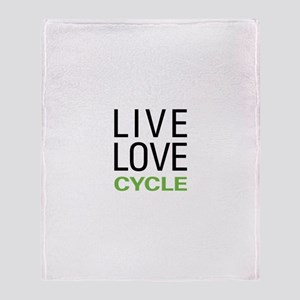 Live Love Cycle Throw Blanket