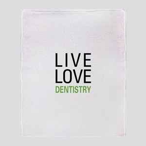 Live Love Dentistry Throw Blanket