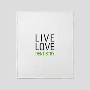 Live Love Dentistry Throw Blanket