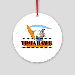Tomahawk Ornament (Round)