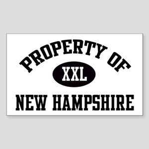 Property of New Hampshire Rectangle Sticker