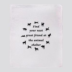 Adopt a Dog Throw Blanket