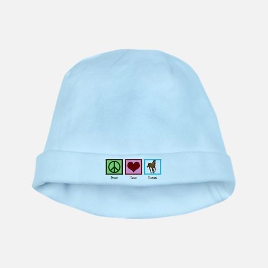 Peace Love Horses baby hat