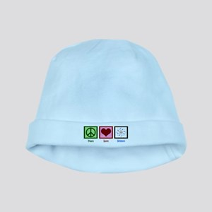 Peace Love Science Baby Hat