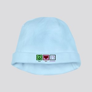 Peace Love Fifteen baby hat