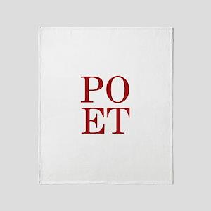 POET Throw Blanket