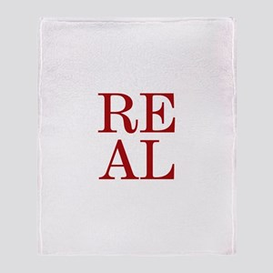 REAL Throw Blanket