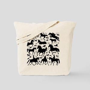 Horse Menagerie Tote Bag