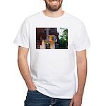 Wall Street Bull White T-Shirt