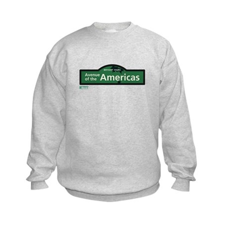 Avenue of the Americas in NY Kids Sweatshirt