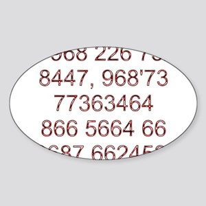 Stationery - Mobile SMS Oval Sticker