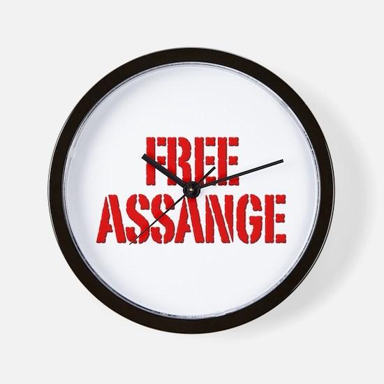 Free Assage Wikileaks Wall Clock