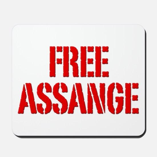 Free Assage Wikileaks Mousepad