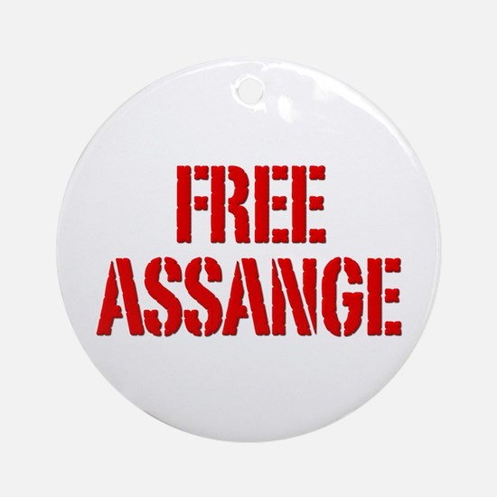 Free Assage Wikileaks Ornament (Round)