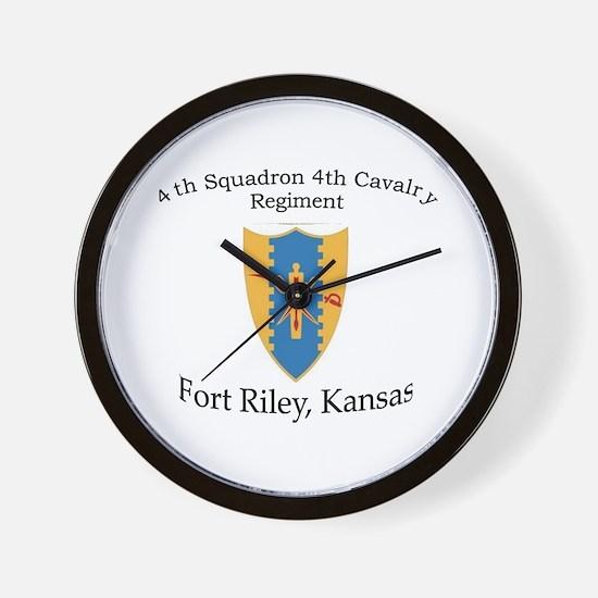 4th Squadron 4th Cav Wall Clock