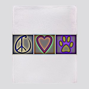 Peace Love Dogs (ALT) - Throw Blanket