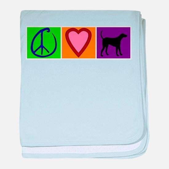Peace Love Black Labs - baby blanket