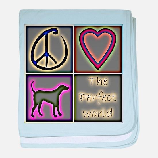 Perfect World: Labrador Retri baby blanket