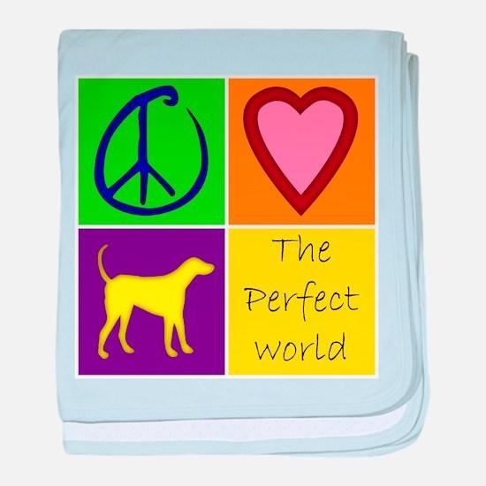 Perfect World: Yellow Lab - baby blanket