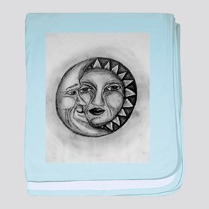Sun & Moon Drawing baby blanket