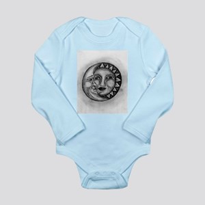 Sun & Moon Drawing Long Sleeve Infant Bodysuit