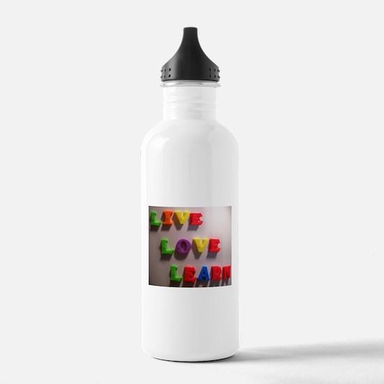 Live Love Learn Water Bottle