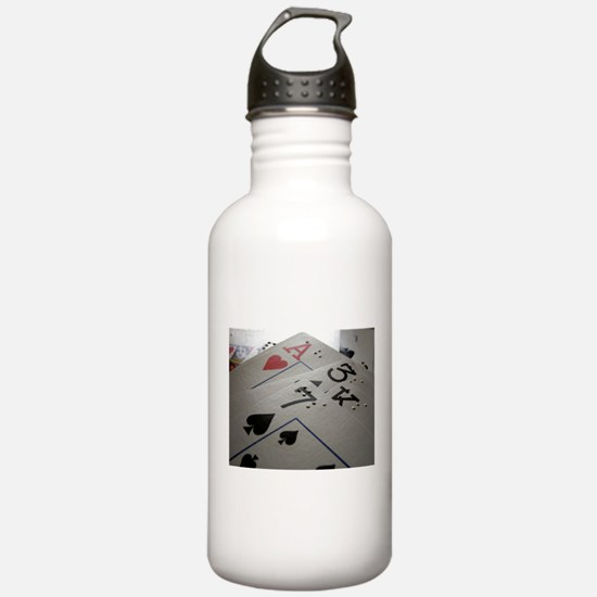 Braille Playing Cards Water Bottle