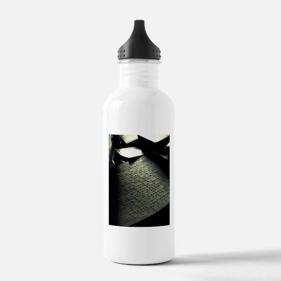 Sunlit Braille Water Bottle