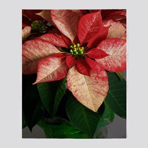 Speckled Poinsettia Throw Blanket