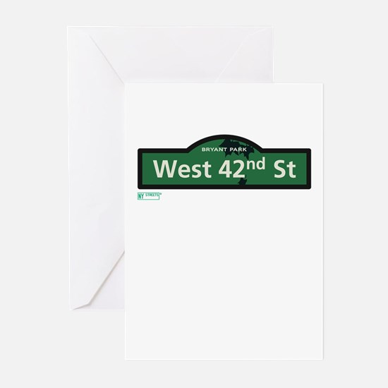 West 42nd Street in NY Greeting Cards (Pk of 20)