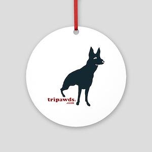 Tripawds Rear Leg GSD Ornament (Round)