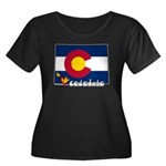 ILY Colorado Women's Plus Size Scoop Neck Dark T-S