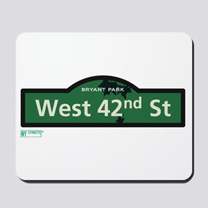 West 42nd Street in NY Mousepad