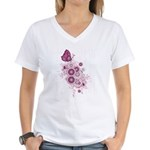 Butterfly calm Women's V-Neck T-Shirt