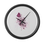 Butterfly calm Large Wall Clock