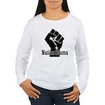 Obama Fist Impact! Women's Long Sleeve T-Shirt
