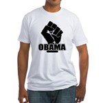 Obama Fist Impact! Fitted T-Shirt