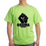 Obama Fist Impact! Green T-Shirt
