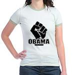 Obama Fist Impact! Jr. Ringer T-Shirt