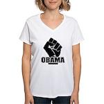 Obama Fist Impact! Women's V-Neck T-Shirt