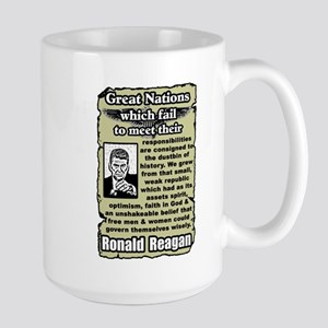 """Reagan: Great Nations"" Large Mug"