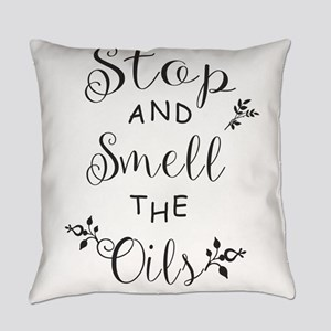 Stop and Smell the Oils Everyday Pillow