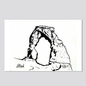 Delicate Arch BW Postcards (Package of 8)