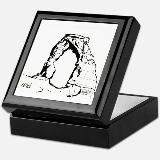Delicate Arch BW Keepsake Box