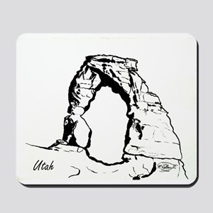 Delicate Arch BW Mousepad