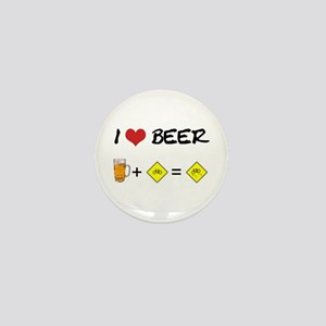 Beer + bike Mini Button