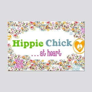 Hippie Chick at Heart Mini Poster Print