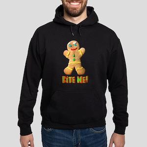 Bite Me Gingerbread Man Hoodie (dark)